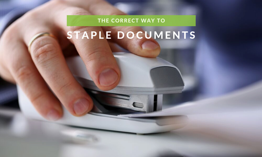 The Correct Way to Staple Documents